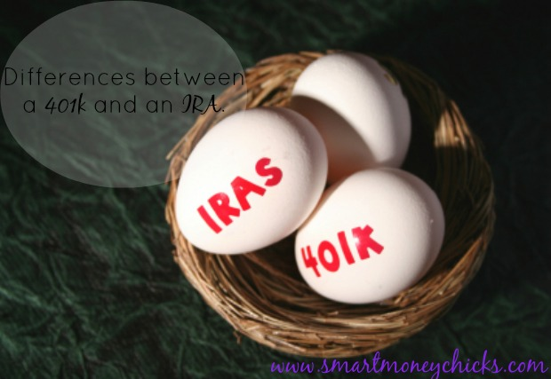 Differences between a 401k and an IRA